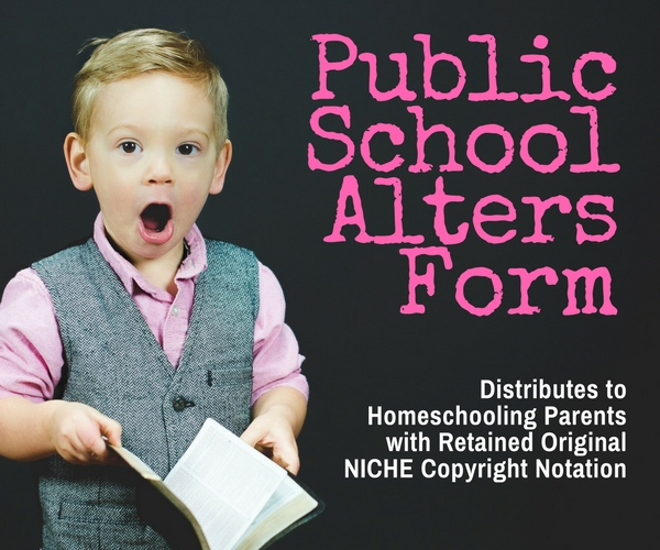 Public School Alters Form