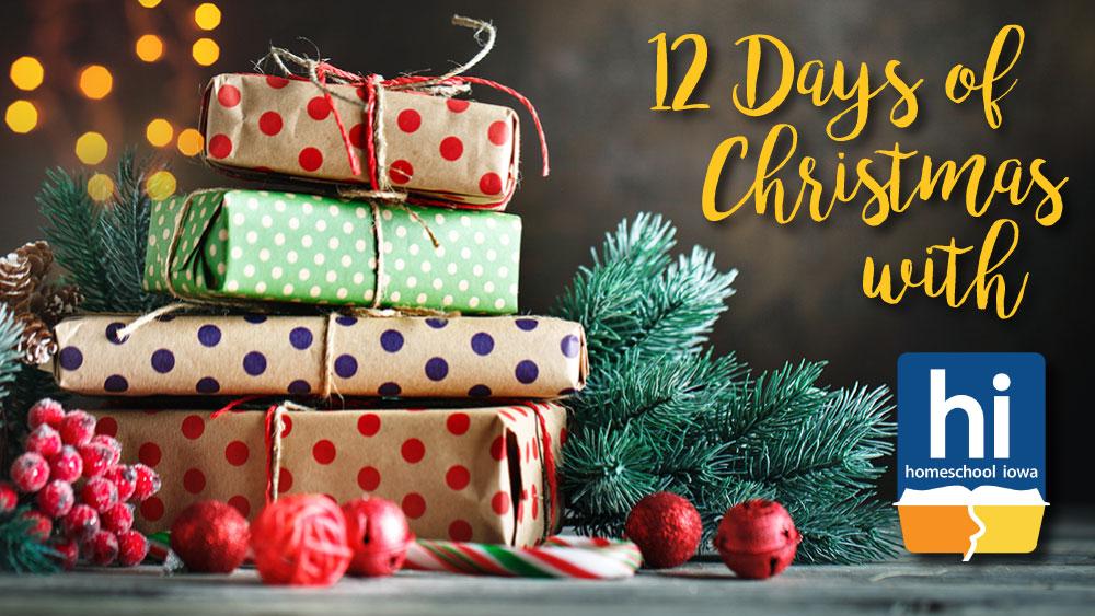Homeschool Iowa 12 Days of Christmas