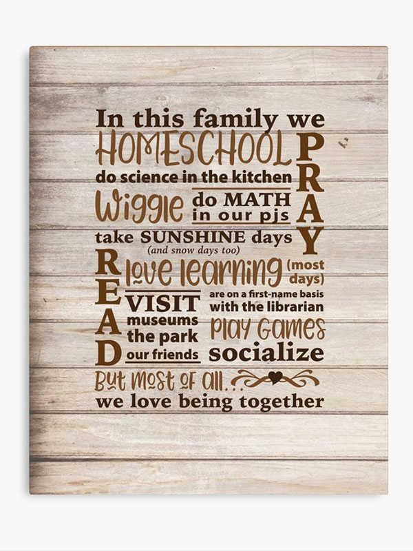 In This Family Canvas - Homeschool Iowa Store