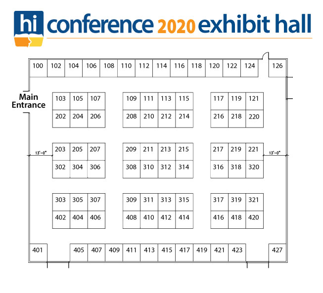 2020 Homeschool Iowa Exhibit Hall Floor Plan
