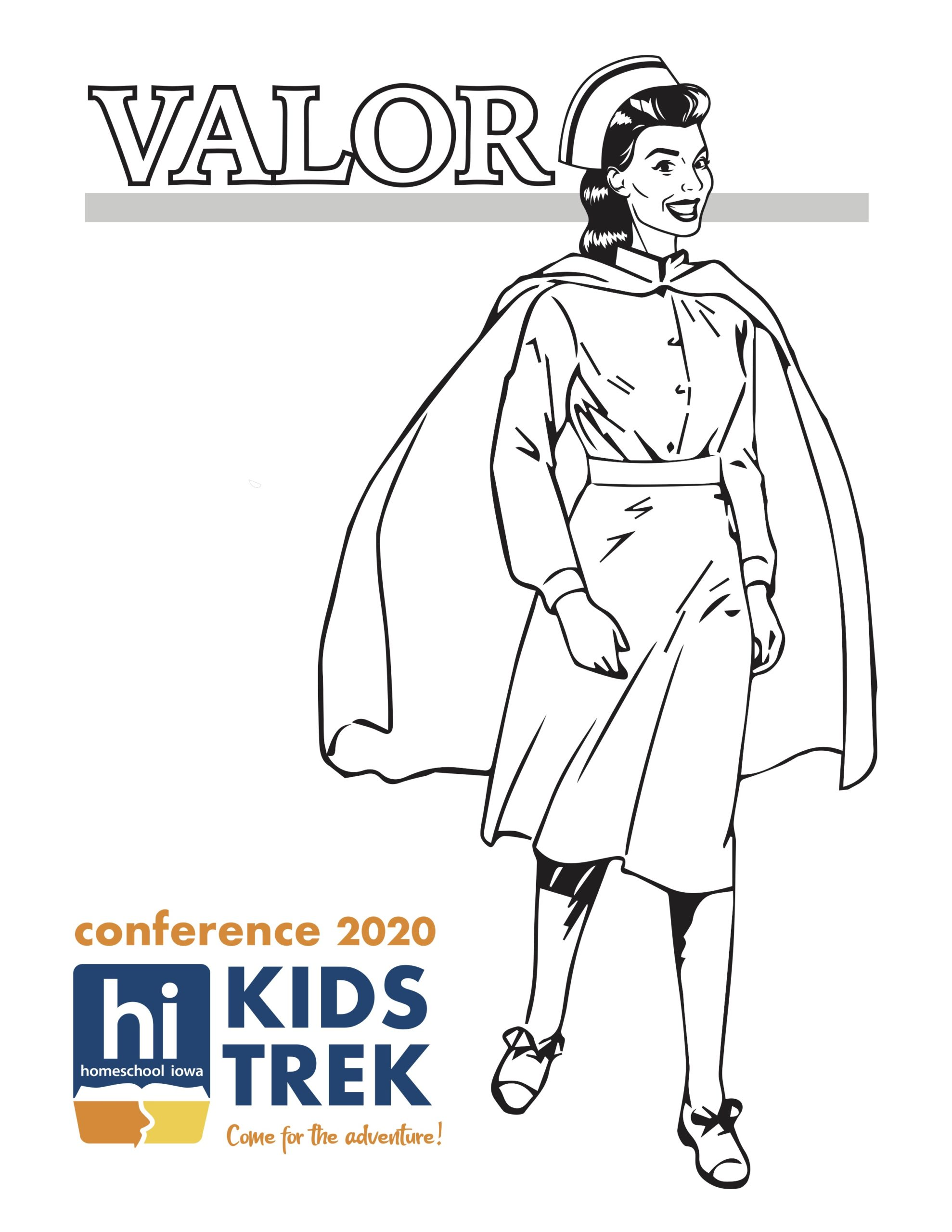 Valor! Coloring Page 2
