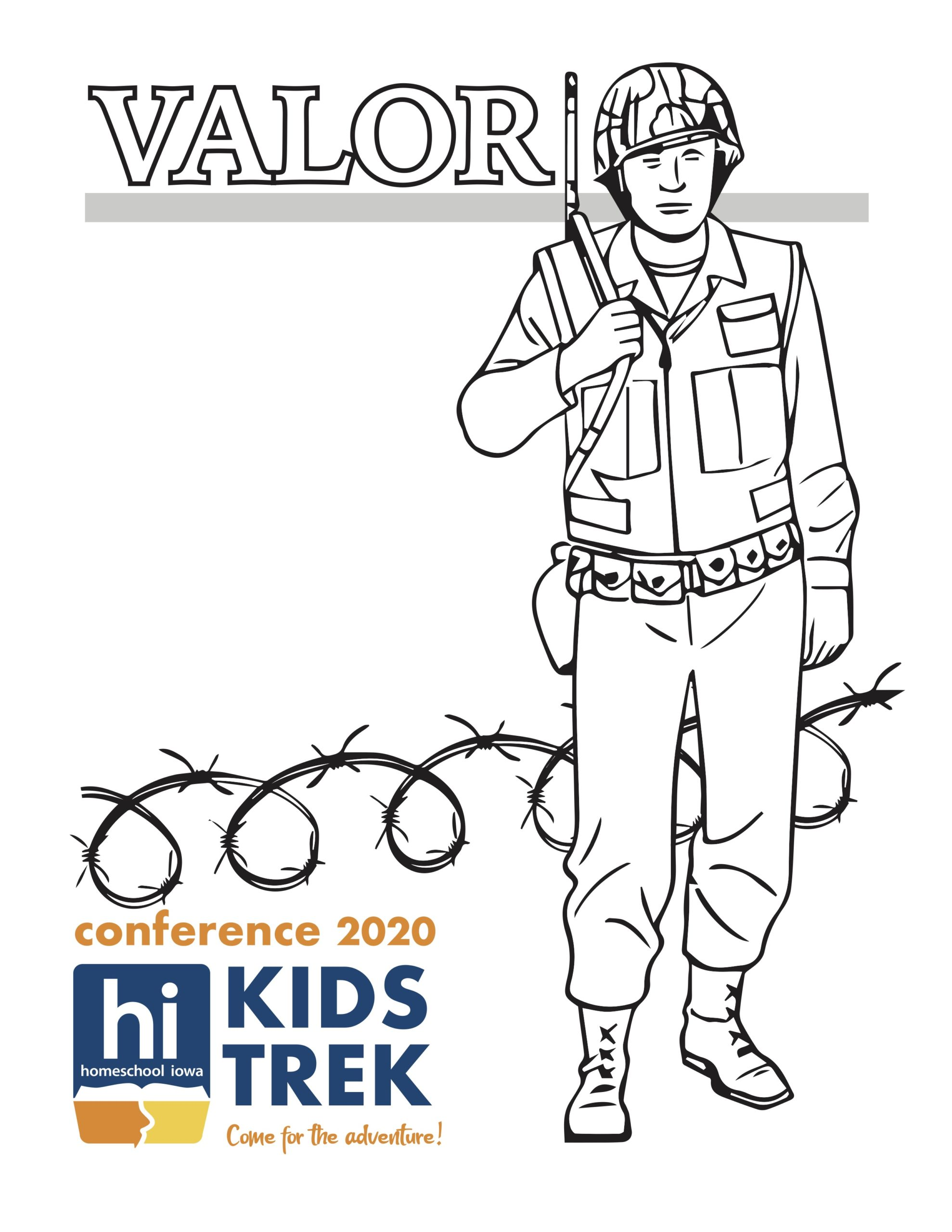 Valor! Coloring Page 3