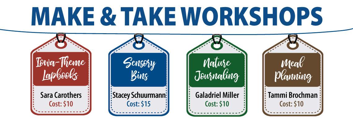 Homeschool Iowa 2021 Conference Make & Take Workshops