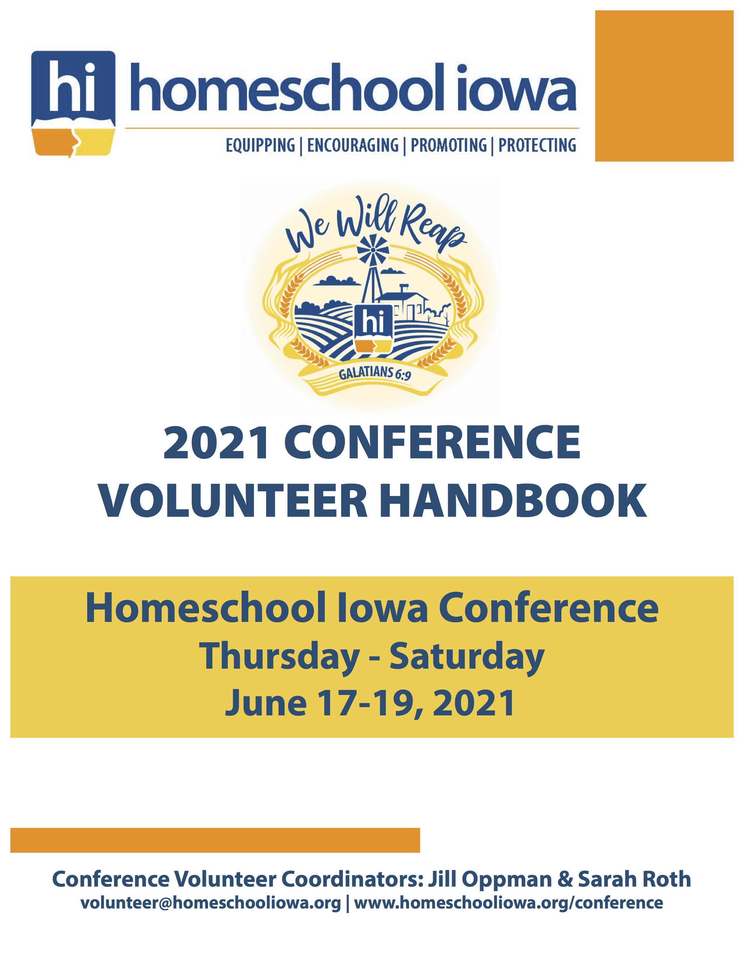 2021 Conference Volunteer Handbook