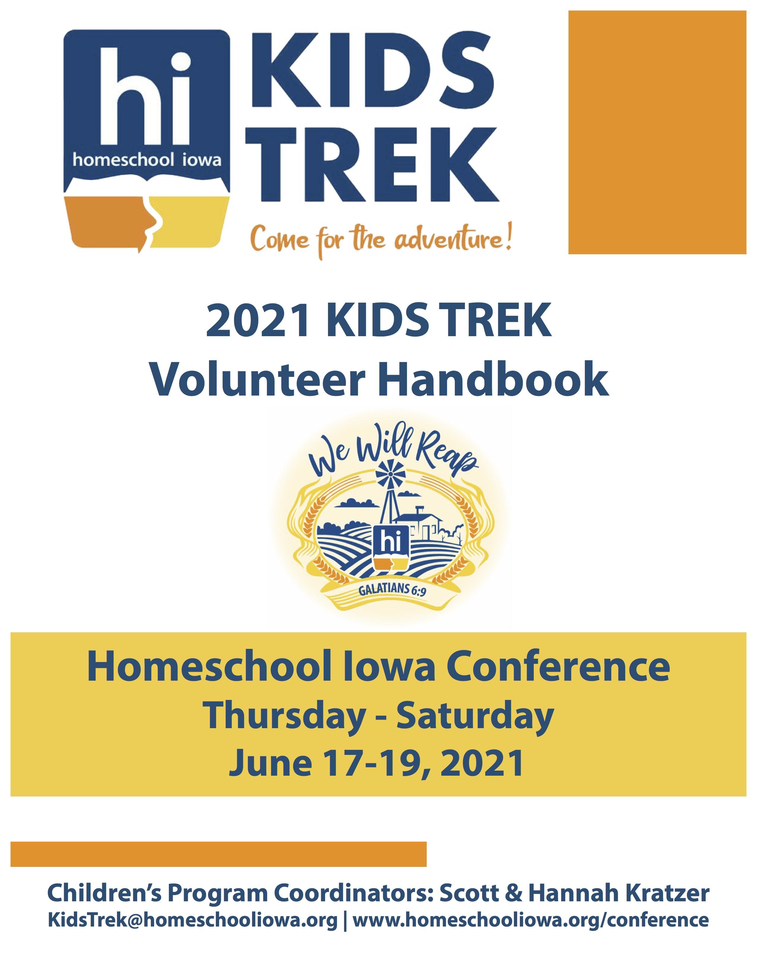 2021 KIDS TREK Volunteer Handbook