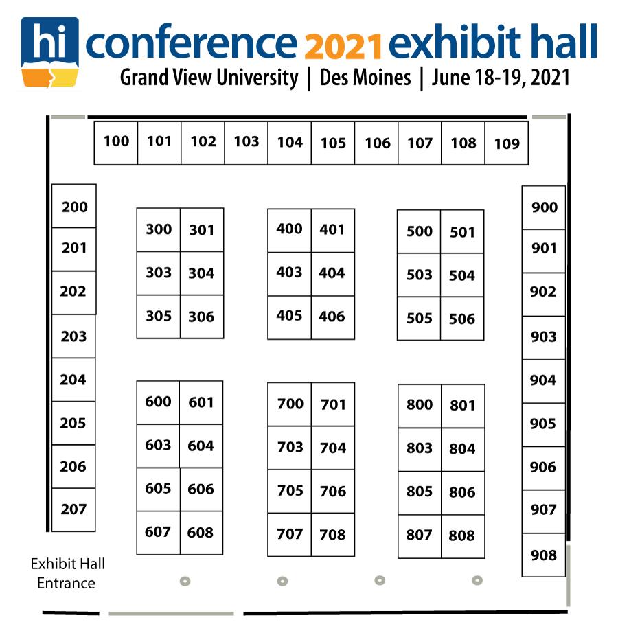 2021 Homeschool Iowa Exhibit Hall Floor Plan