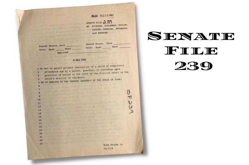 Senate File 239