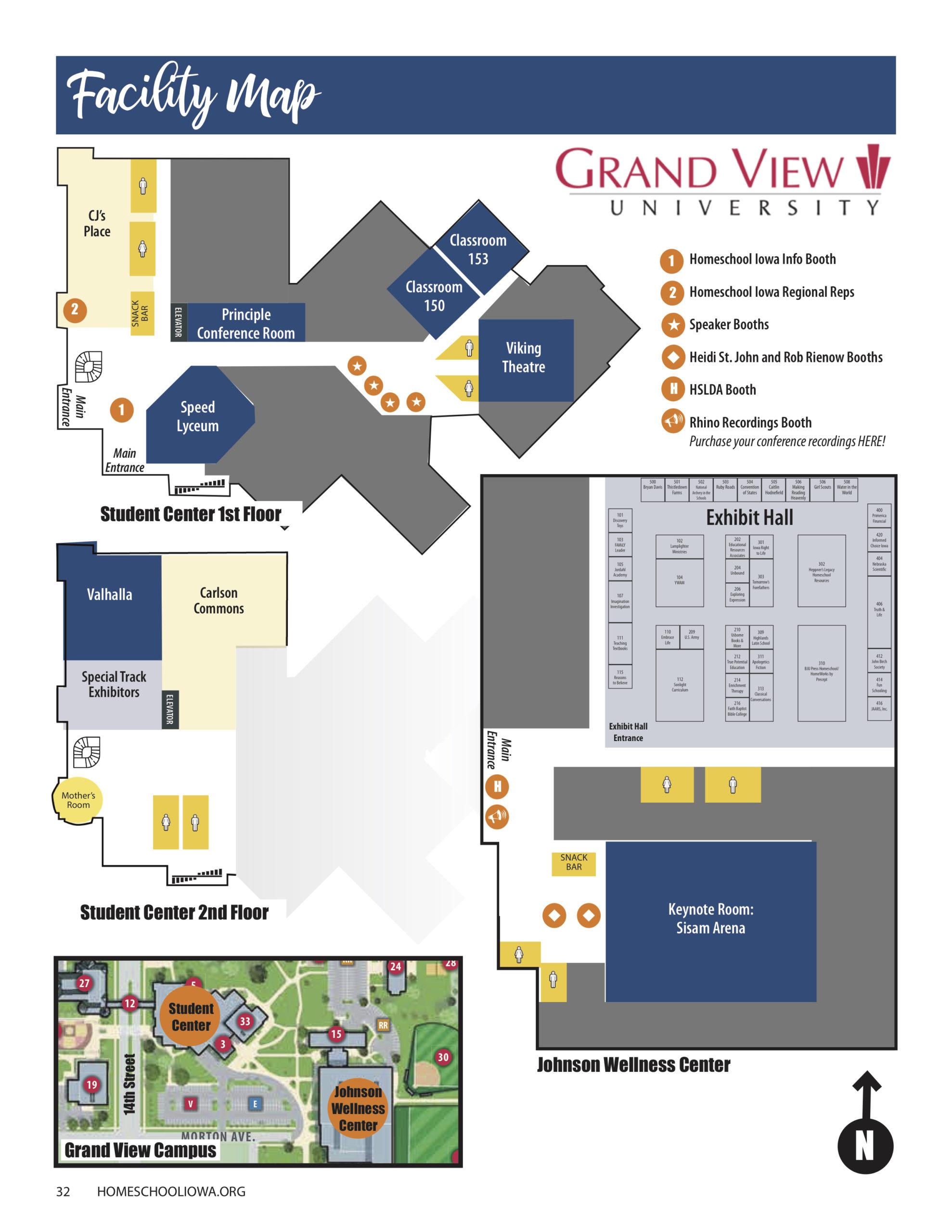 2021 Homeschool Iowa Conference Facility Map