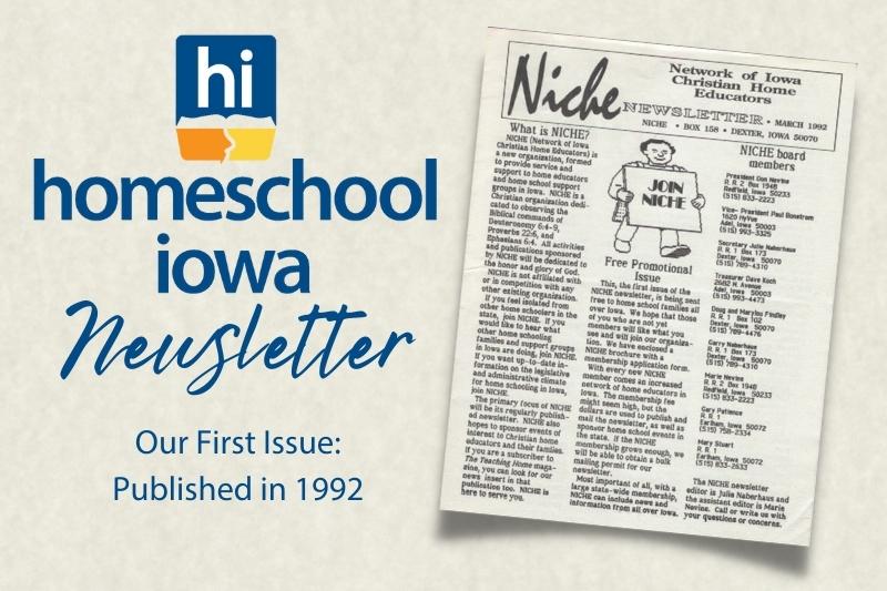 The Homeschool Iowa Newsletter: Supporting Your Homeschool Journey